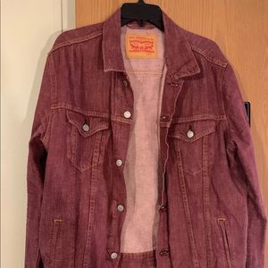 Faded Red Levis Jacket